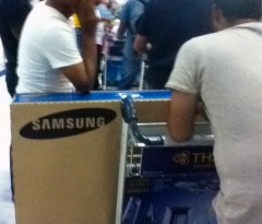 Nice guys. Great deal on TVs in Thailand they told me. Kept me entertained in a long line up.