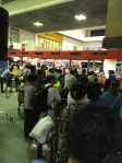 Air Asia lineup at Don Muang, the old Bangkok airport. Hellish scene at 5:00 am.