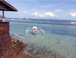 East coast of Bali at Candidasa.