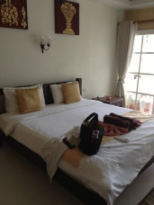 Another shot of the hotel room at Ananda Villa.