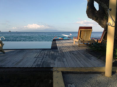 View from my hotel in Candidasa, East Bali. Gorgeous.