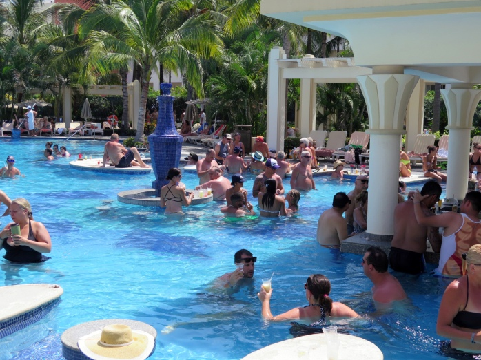 The pool was teeming with Brits.