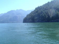 Nearing the dive site.