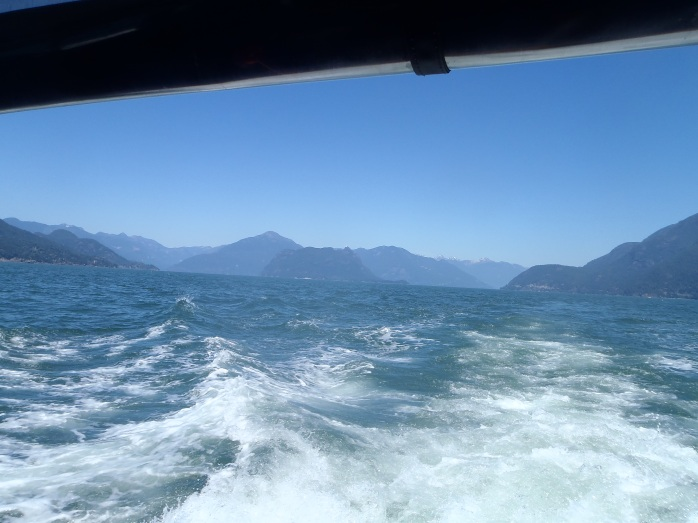 Howe Sound, BC. Gorgeous very cold water. 48 degrees F.