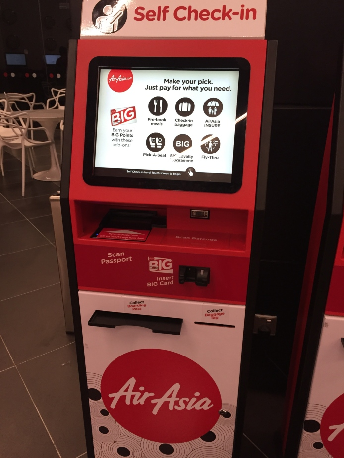 Kiosk in the lobby