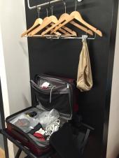 Yes, that's underwear drying. Great, comfy. Best travel undies EVER. ExOfficio.