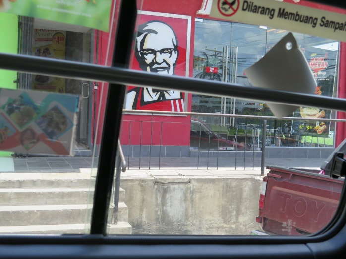 The Colonel is always there. No matter where you travel.