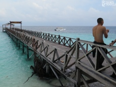 View from the dock at Sipadan.